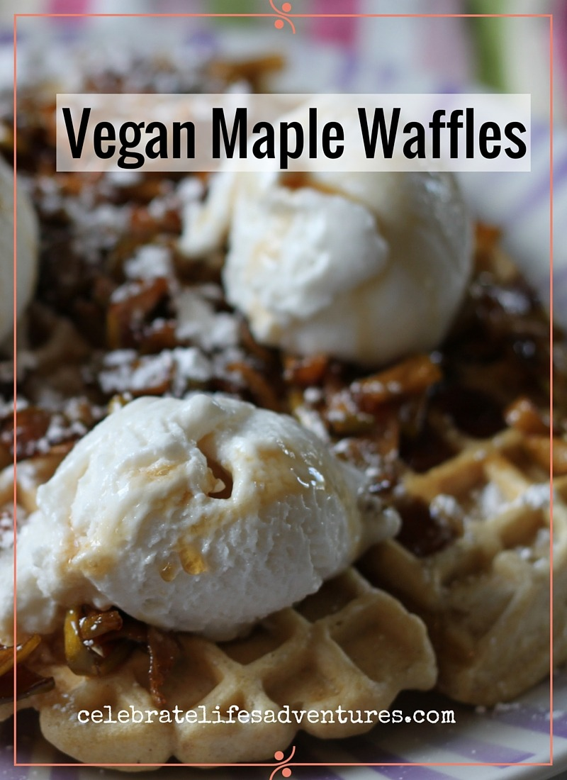 vegan maple waffles