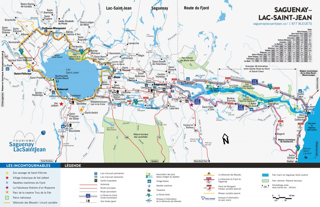 Saguenay-Lac-Saint-Jean Region map