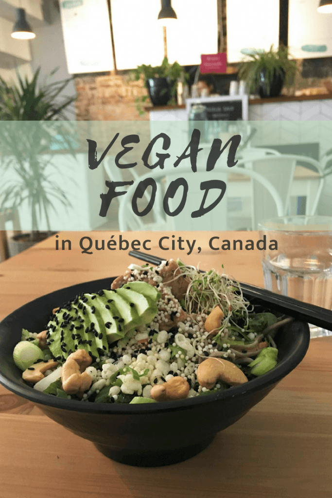 vegan food in québec city Canada