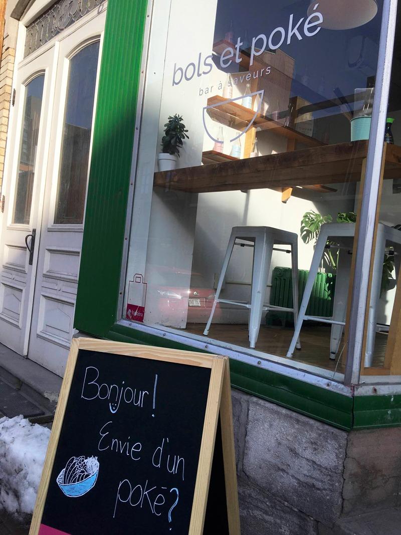 bols et poké vegan food in quebec city