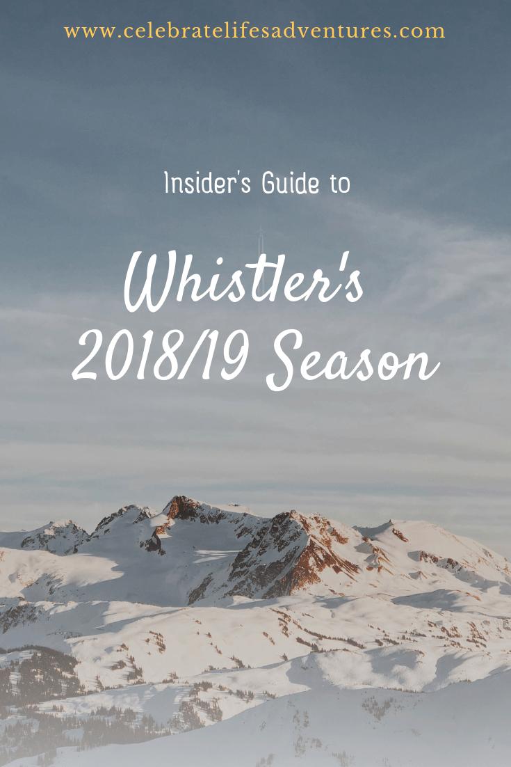 Whistler's 2018/19 Season - Guide to Whistler